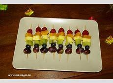 RegenbogenParty Bunte Fruchtspieße RegenbogenSpieße