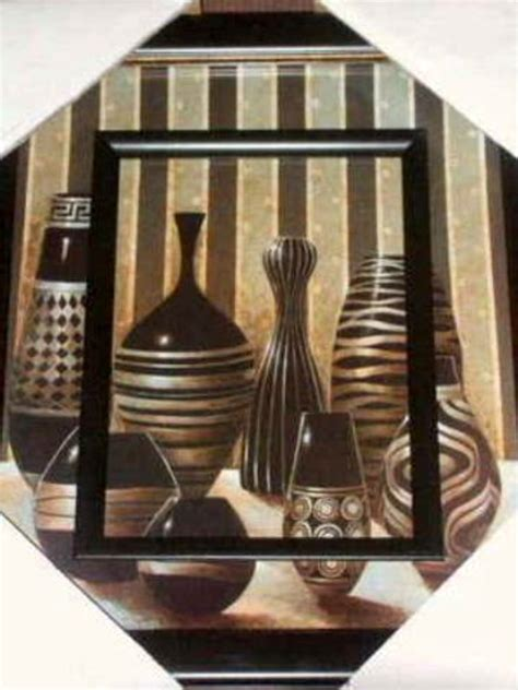 African Inspired Vases Wall Art Picture