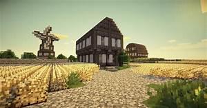 Minecraft Farm and Windmill