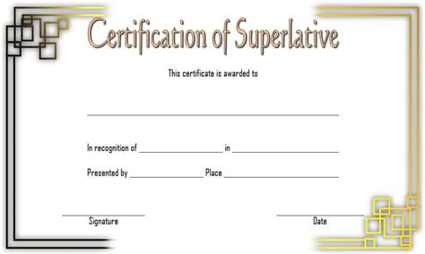 superlative certificate templates   great designs