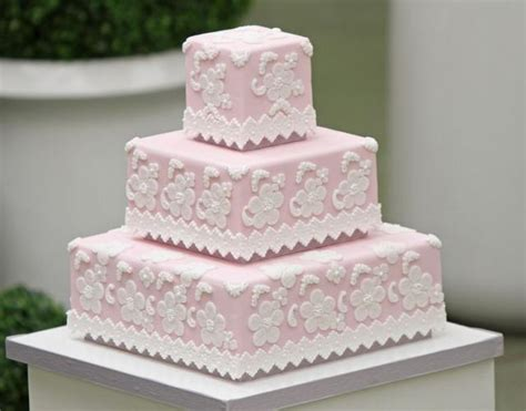 square baby shower cakes pink square 3 tier baby shower cake with white