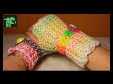 rainbow loom fingerless gloves rubber bands  yarn