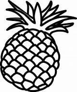 Template Lime Pineapple Outline Coloring Sketch Clip Vector Air sketch template