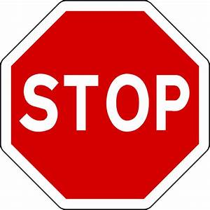 File Mandatory Road Sign Stop Svg