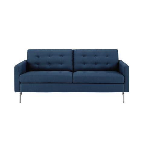 canapé 2 places en tissu canapé 2 3 places en tissu bleu nuit victor maisons du monde