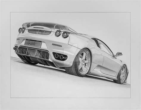 ferrari drawing ferrari f430 by industrialrevelation on deviantart