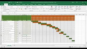 Tech-018 - Compare Estimated Time Vs Actual Time In A Time Line  Gantt Chart  In Excel