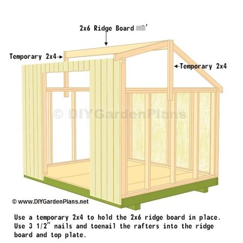 10 X 14 Saltbox Shed Plans by Truss Saltbox Shed Plans Page 8