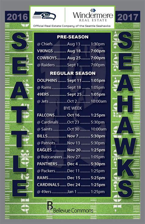 seahawks schedule ideas  pinterest