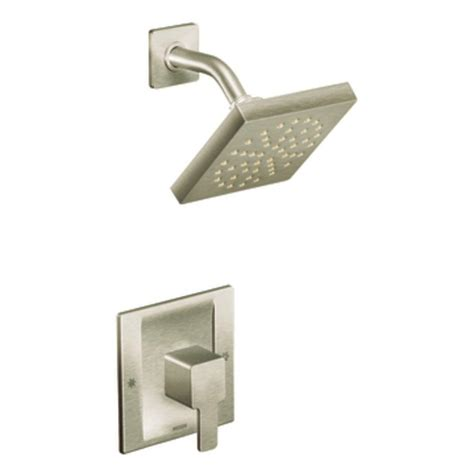 moen 90 degree faucet brushed nickel moen 90 degree 1 handle shower faucet trim kit less shower