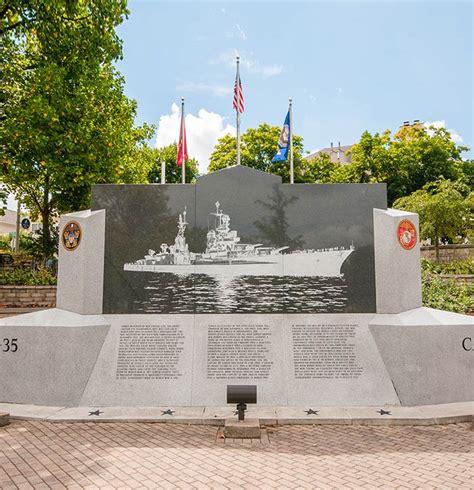Sinking Ship Indianapolis Menu by Uss Indianapolis Ca35 Memorial Indiana War Memorials