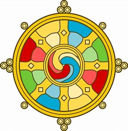 Svg Wheel Tibetian Pixels Wikimedia Commons Nominally