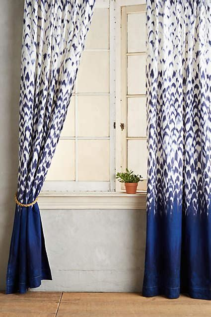 indigo  white paisley curtain