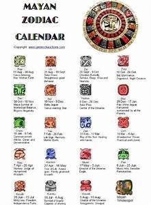 Mayan Zodiac Calendar | Maya, Calendar and Signs