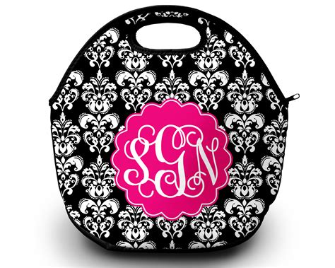 lunch tote personalized monogrammed lunch box sassy