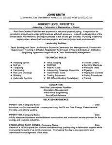plumber pipefitter resume exles free journey level pipefitter resume template premium resume sles exle