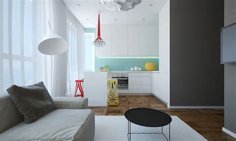 Modern Small Apartment Design In Bulgaria  Adorable Home