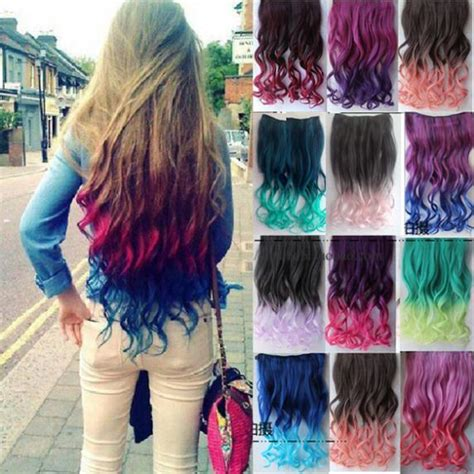 colorful ombre hair 20colors top fashion gradient hair extension