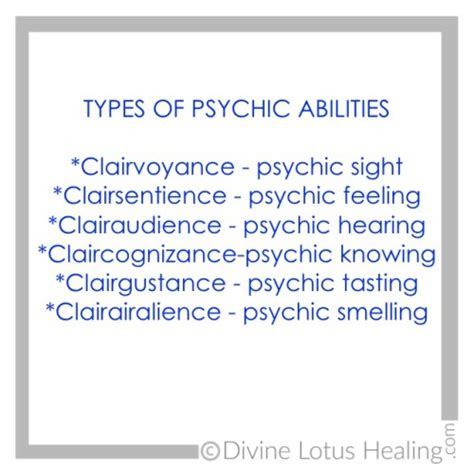 Types Of Psychic Abilities  Divine Lotus Healing. Payment Calculator For Student Loans Template. Reading Specialist Job Description Template. Pharmacy Tech Resume Objective. Template Letter For Job Application Template. Business Logbook. Programme Samples For Events Template. Network Engineer Cv Sample Template. Free Wedding Registry Card Template