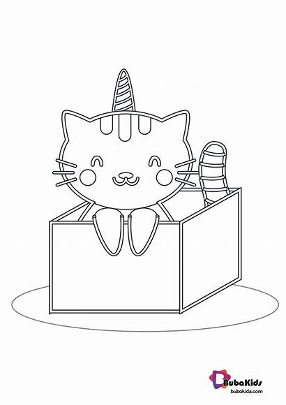 Coloring Cat Printable Bubakids Animal Cats Numbers