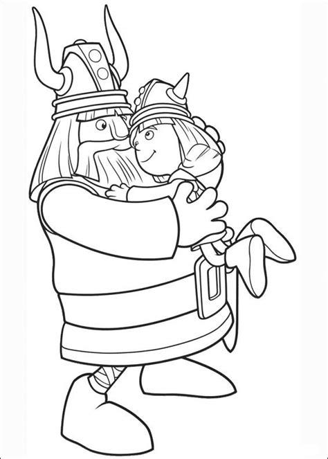 Drakenpoot Kleurplaat by The Viking Fargelegging For Barn 1
