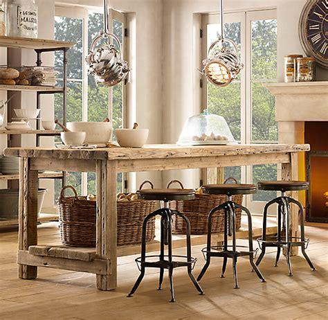 salvaged wood kitchen islands
