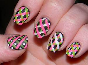 Neon nail art designs acrylic