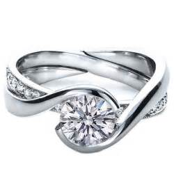 twisted wedding band engagement ring twisted from mdc diamonds