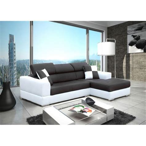 canapé noir et blanc but canapé d angle blanc et noir royal sofa idée de canapé