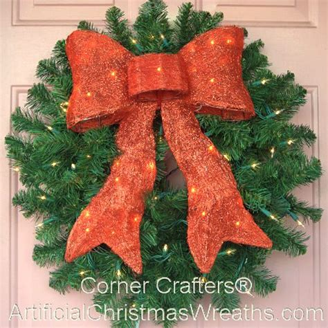 24 inch prelit incandescent wreath