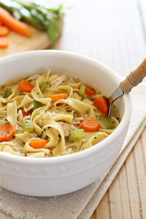 quick  easy chicken noodle soup love grows wild