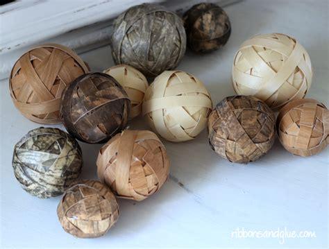 Decorative Orbs Wood Metal Ball Rustic Home Decor Spheres: Decorative Wood Ball Centerpiece