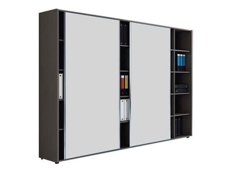 armoire bureau porte coulissante armoires et caissons melamines i bureau