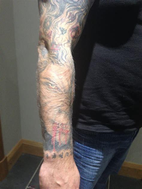 peter  bretts blog detailed warded sleeve tatt october