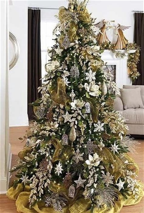 silver and gold tree silver and gold tree christmas trees pinterest