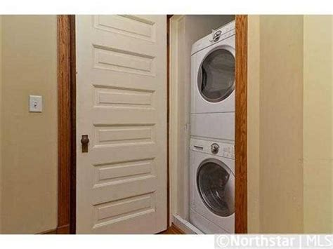 washer dryer in closet mud laundry room