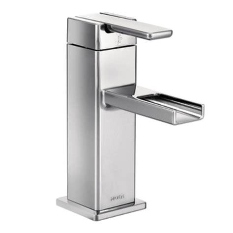 moen s6705 90 degree single hole bathroom faucet with pop