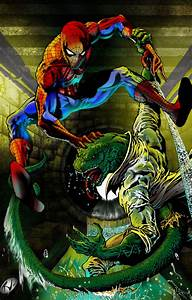 #Spiderman #Fan #Art. (Spiderman vs Lizard) By: RudyV ...