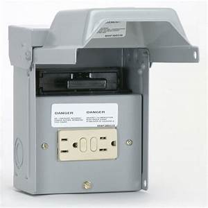 Ge 60 Amp 240-volt Non-fuse Ac Disconnect With Gfci Receptacle-tfn60rgfrcp