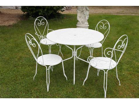 chaise de jardin en fer awesome table de jardin bois fer forge photos amazing