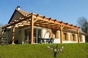 Construire Pergola Bois : pergola bois penmie bee ~ Preciouscoupons.com Idées de Décoration