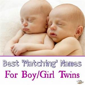 20 Pairs of Baby Names for Twins of the Opposite Sex | CafeMom