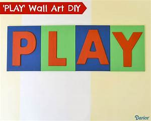 Playroom decor diy painted wood letter canvases