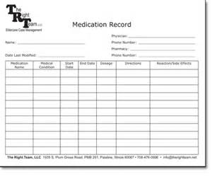 Blank Medication Administration Record Sheet Form