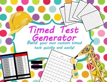 timed test and key generator for multiplication division and mixed