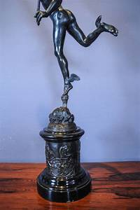 A large patinated bronze sculpture of Hermes / Mercury ...