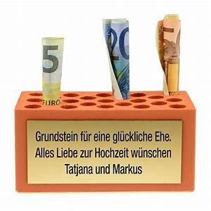 Spruch Zur Hauseinweihung : geldgeschenk zur hochzeit grundstein f r eine gl ckliche ehe ~ Lizthompson.info Haus und Dekorationen