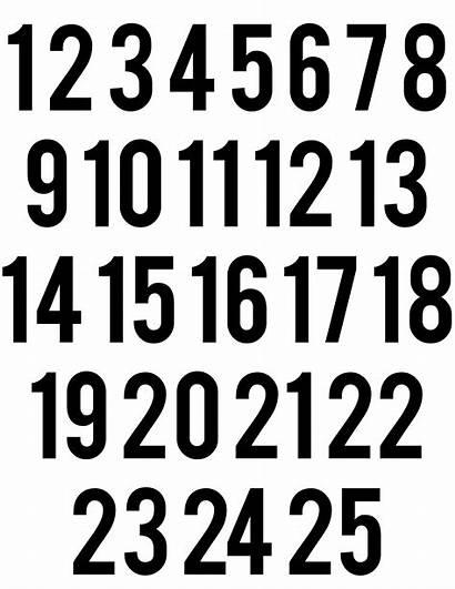 Numbers Calendar Printable Template Advent Christmas Countdown