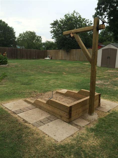 Horseshoe Pit Dimensions Backyard - back yard built shoe pits with led lights
