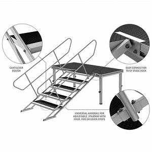 Gt Stage Deck Adjustable Stair Handrail